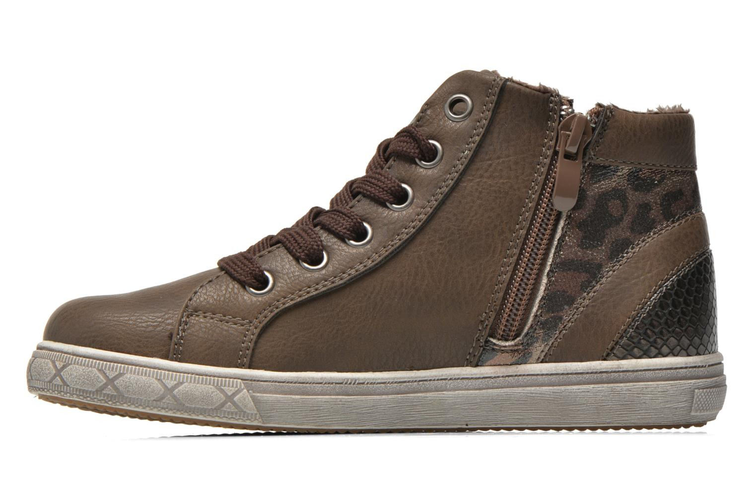 Trainers I Love Shoes SIRQUE Brown front view