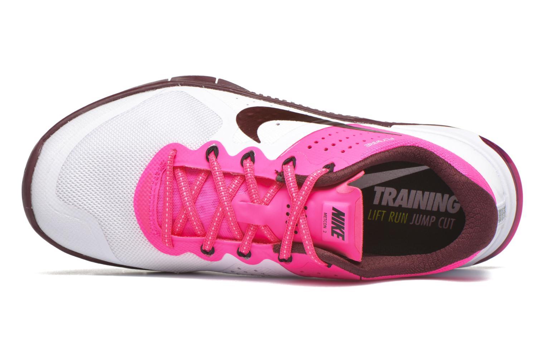Sneaker Nike Wmns Nike Metcon 2 weiß ansicht von links