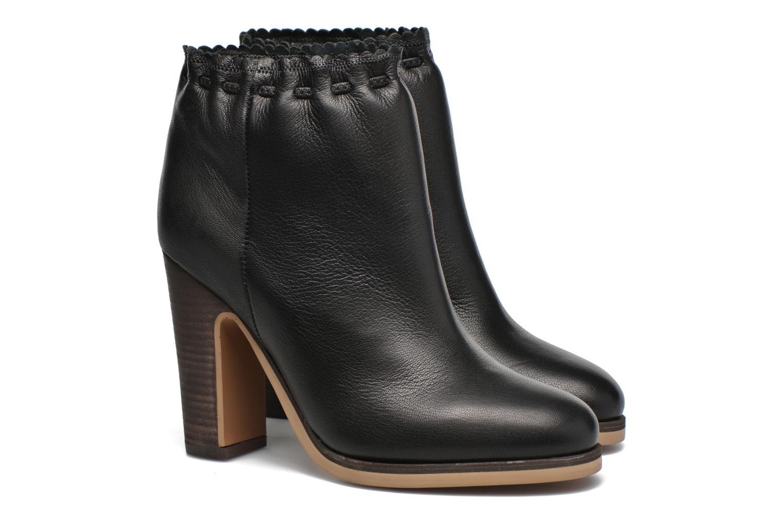 Bottines et boots See by Chloé Yspa Noir vue 3/4