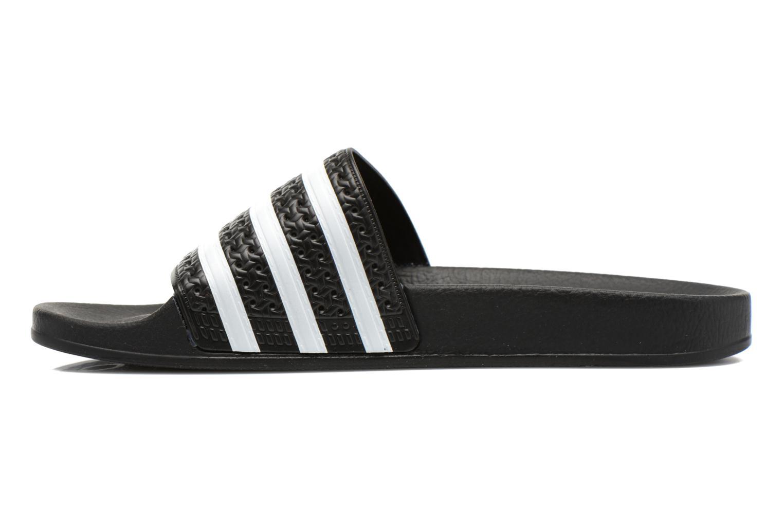 Sandales et nu-pieds Adidas Originals Adilette Noir vue face