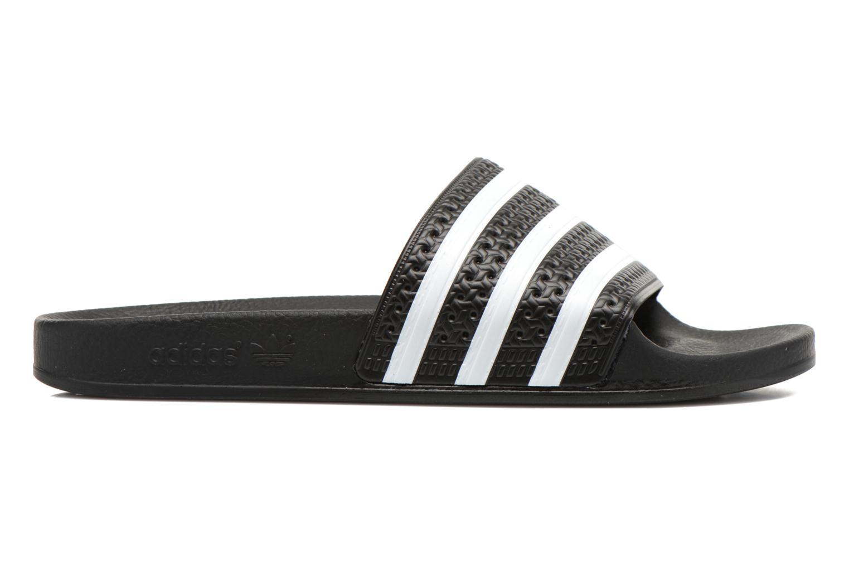 Sandales et nu-pieds Adidas Originals Adilette Noir vue derrière