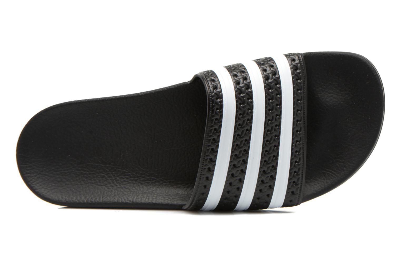 Sandales et nu-pieds Adidas Originals Adilette Noir vue gauche