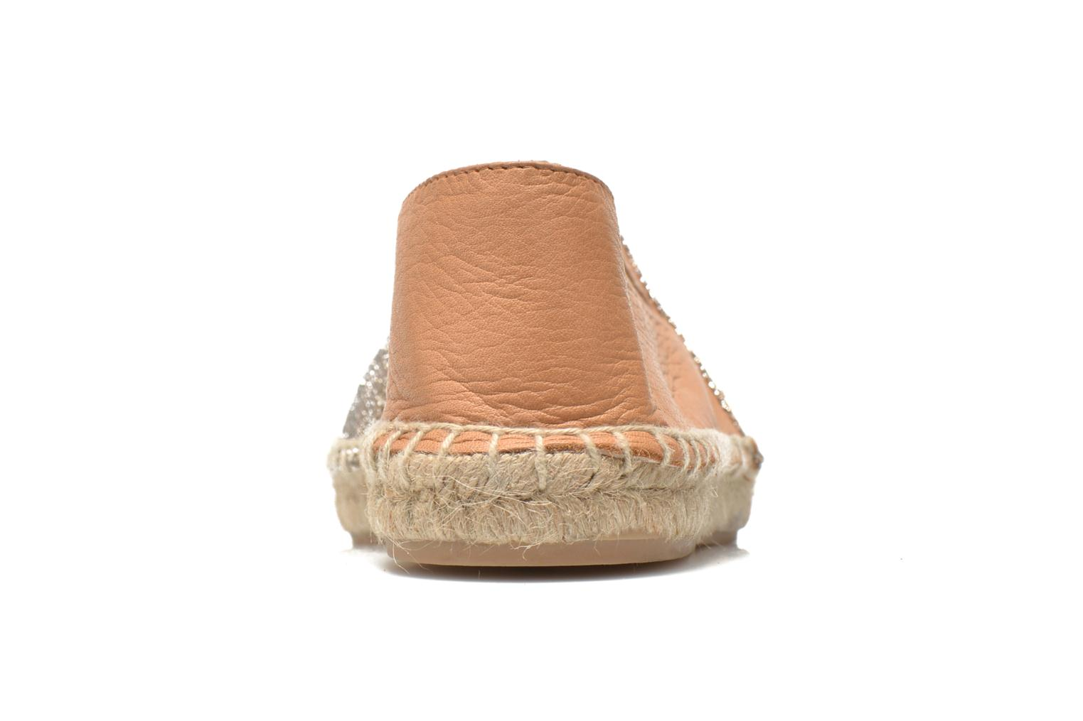 Espadrilles Georgia Rose Dapacho Bronze and Gold view from the right