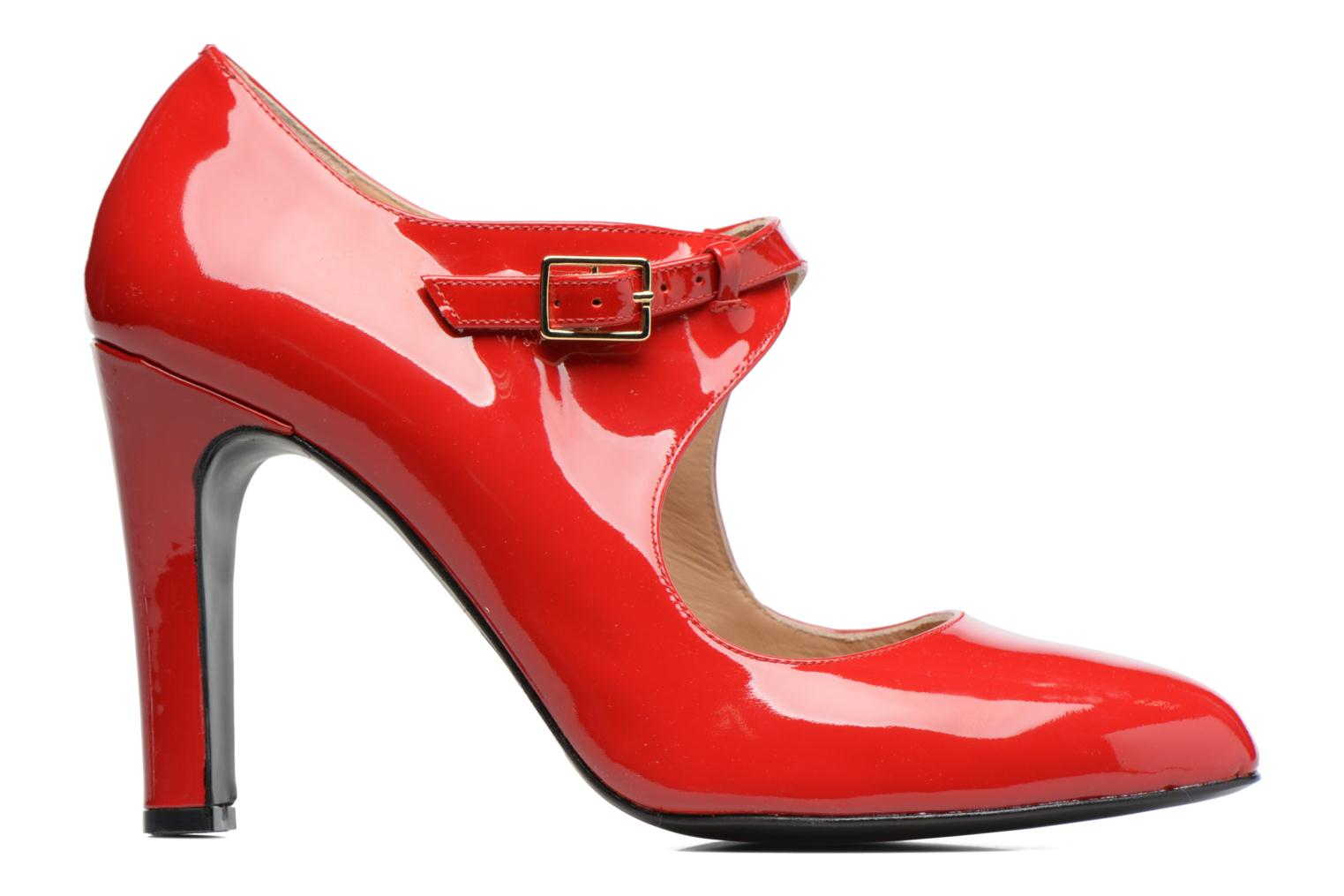 High heels Made by SARENZA Shoe Officer #3 Red detailed view/ Pair view