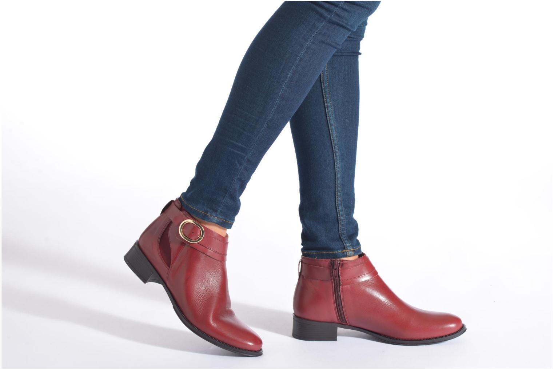 Bottines et boots Georgia Rose Eperdreau Noir vue bas / vue portée sac