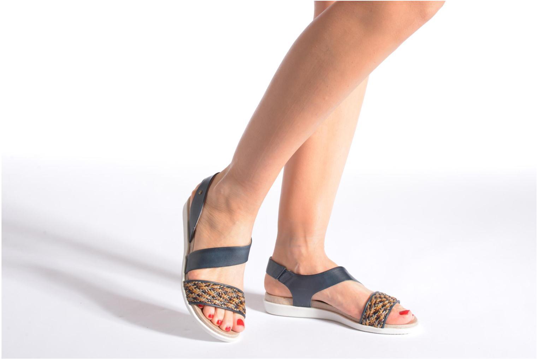 Sandales et nu-pieds Pikolinos Antillas W0H-0803 Bleu vue bas / vue portée sac