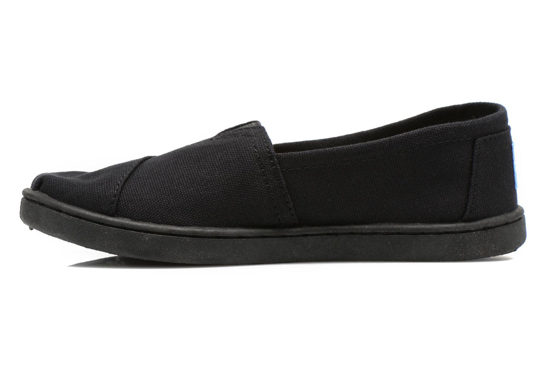 Sneaker TOMS Canvas Classics schwarz ansicht von vorne