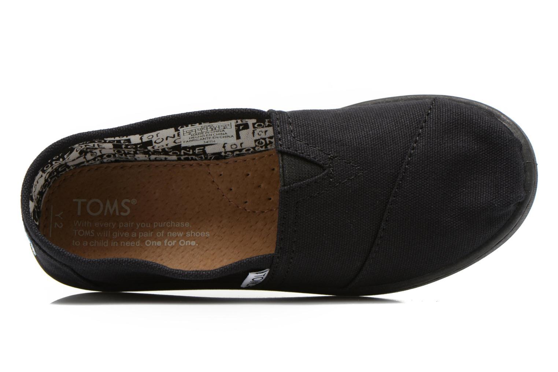 Sneaker TOMS Canvas Classics schwarz ansicht von links