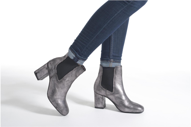 Bottines et boots Bronx Indira Or et bronze vue bas / vue portée sac