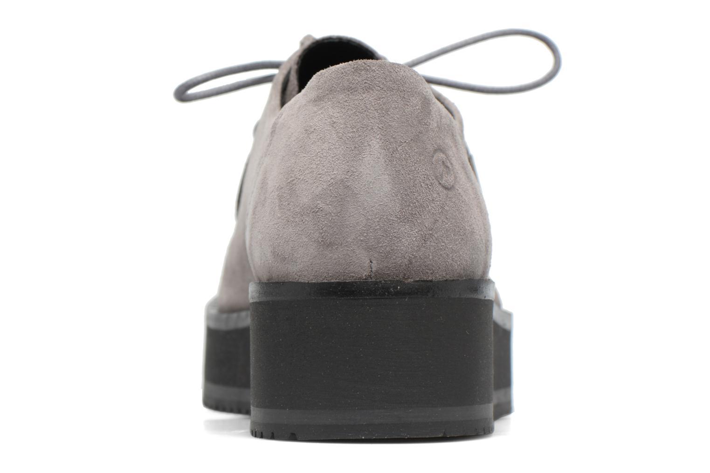 Zapatos con cordones Bronx Vino I Gris vista lateral derecha