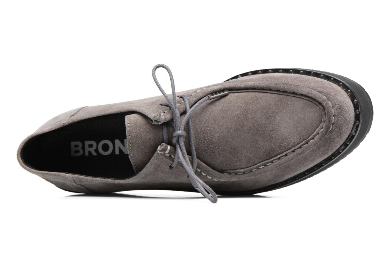 Zapatos con cordones Bronx Vino I Gris vista lateral izquierda