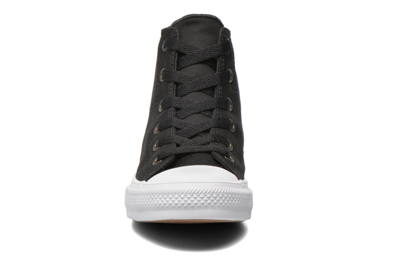 Sneaker Converse Chuck Taylor All Star II Hi schwarz schuhe getragen