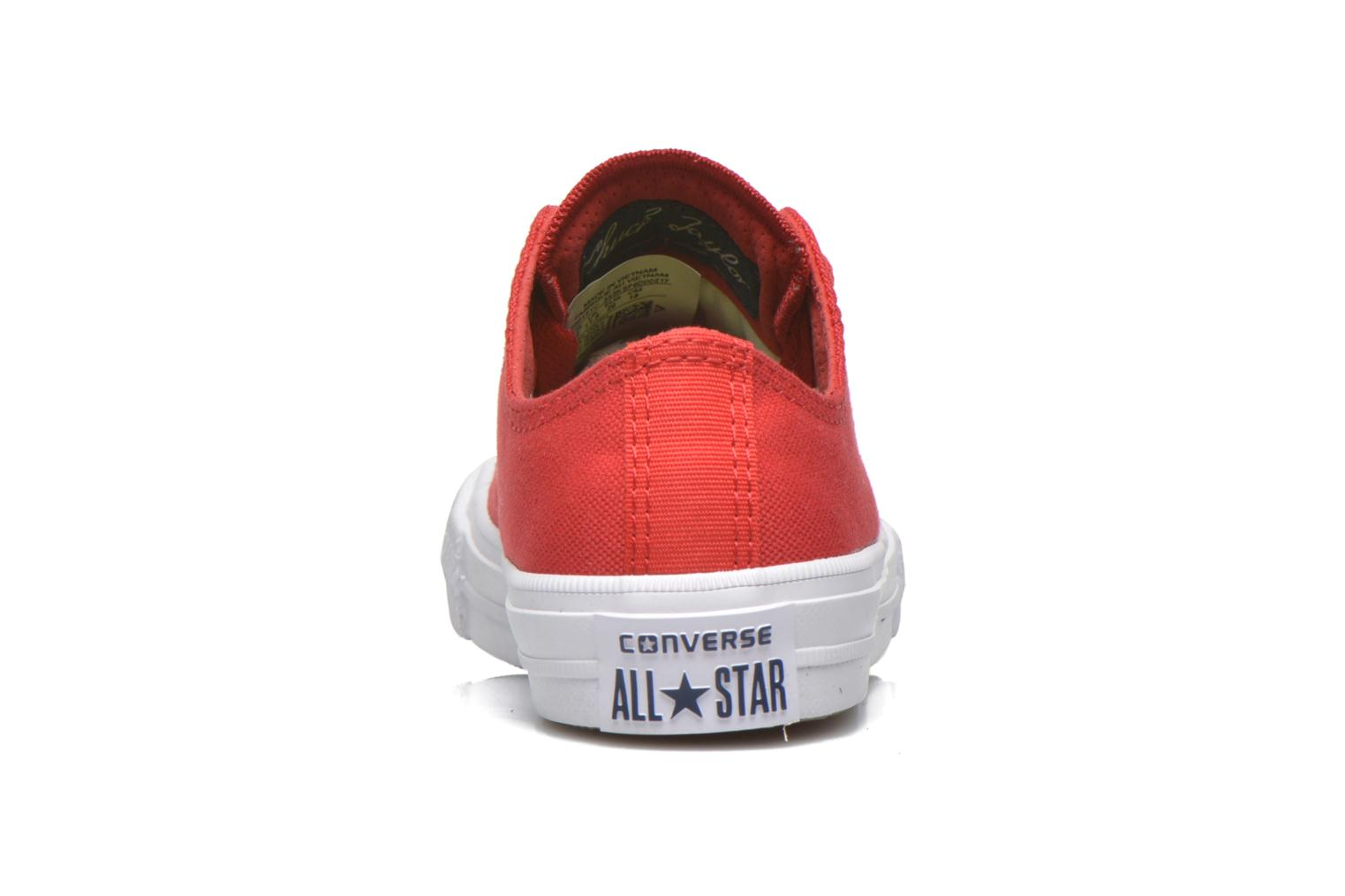 Baskets Converse Chuck Taylor All Star II Ox Rouge vue droite