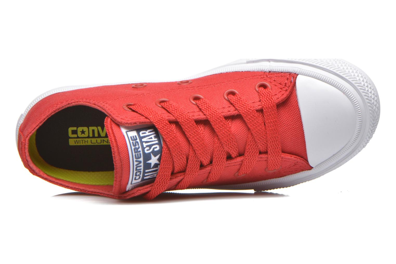 Sneaker Converse Chuck Taylor All Star II Ox rot ansicht von links