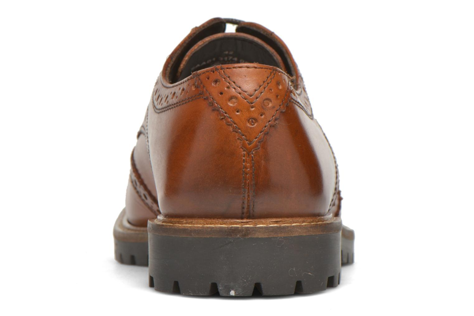 Lace-up shoes Base London Trench Brown view from the right