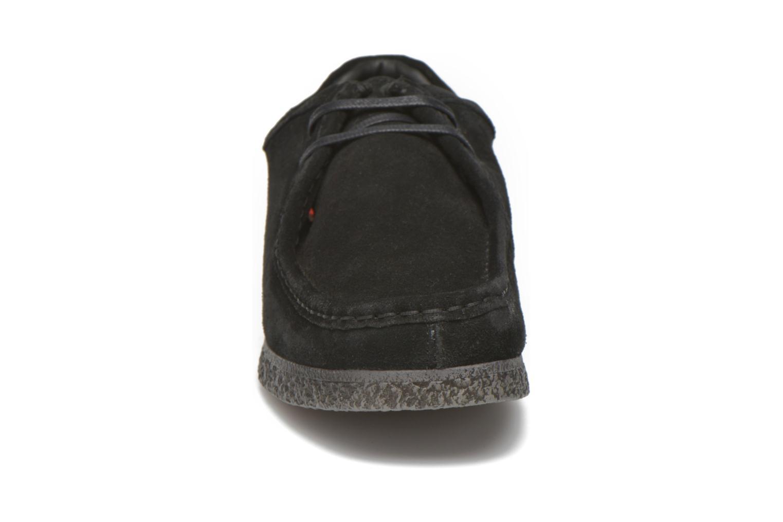 Schnürschuhe Base London Genesis schwarz schuhe getragen