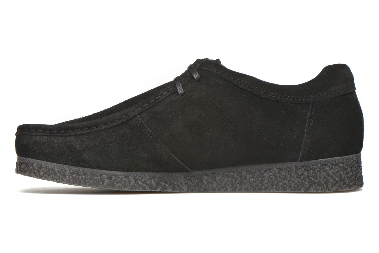 Chaussures à lacets Base London Genesis Noir vue face