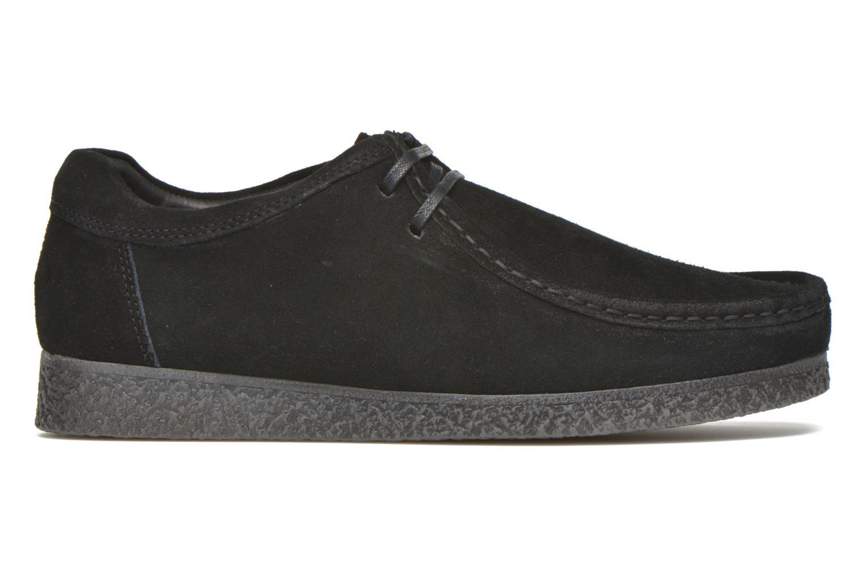 Chaussures à lacets Base London Genesis Noir vue derrière