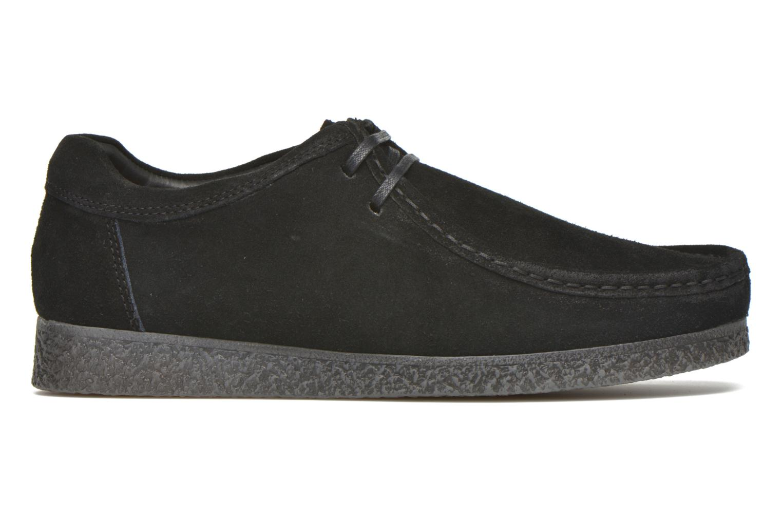 Zapatos con cordones Base London Genesis Negro vistra trasera