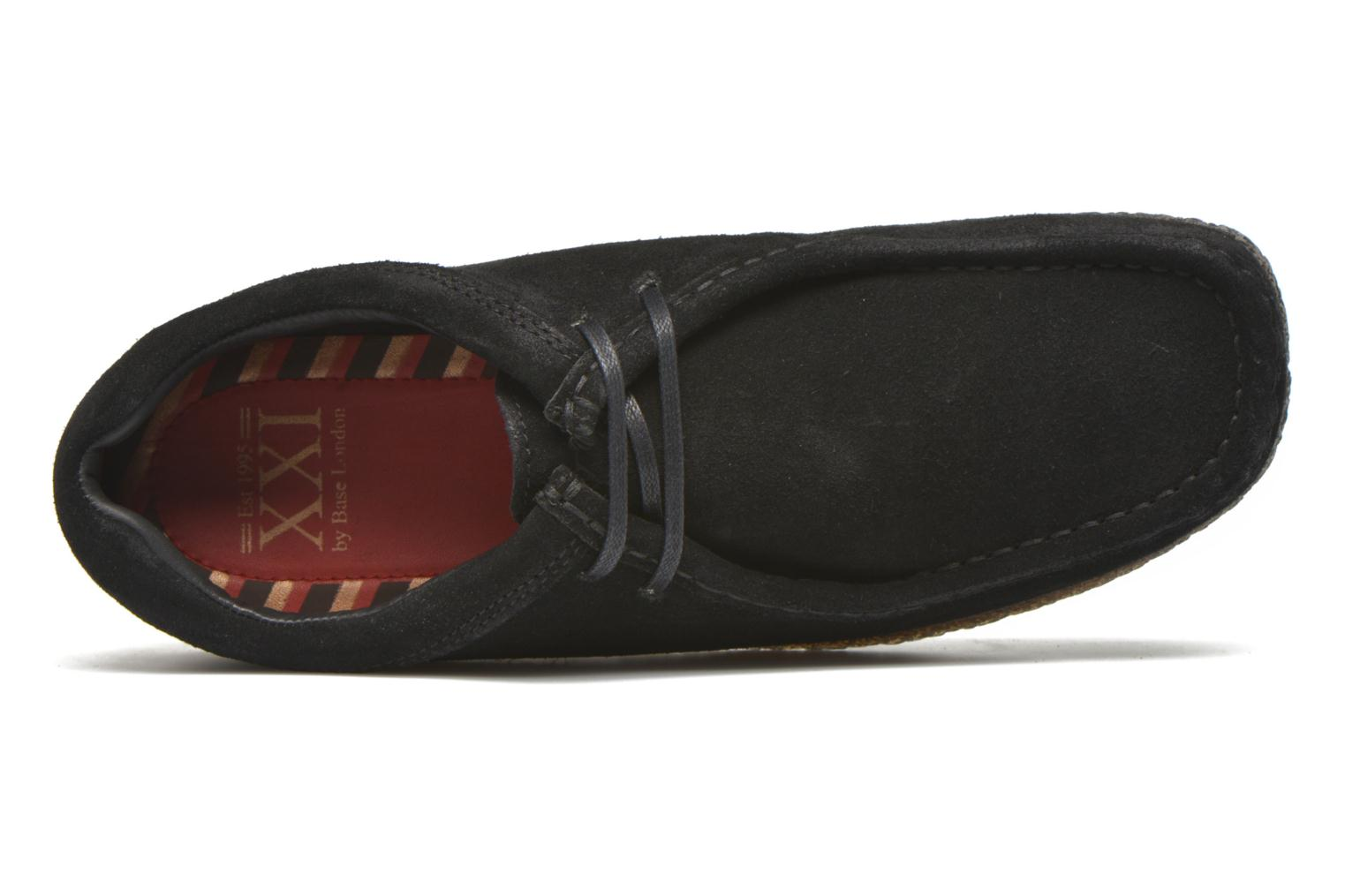 Lace-up shoes Base London Genesis Black view from the left