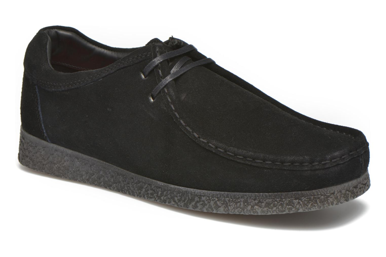 Lace-up shoes Base London Genesis Black detailed view/ Pair view