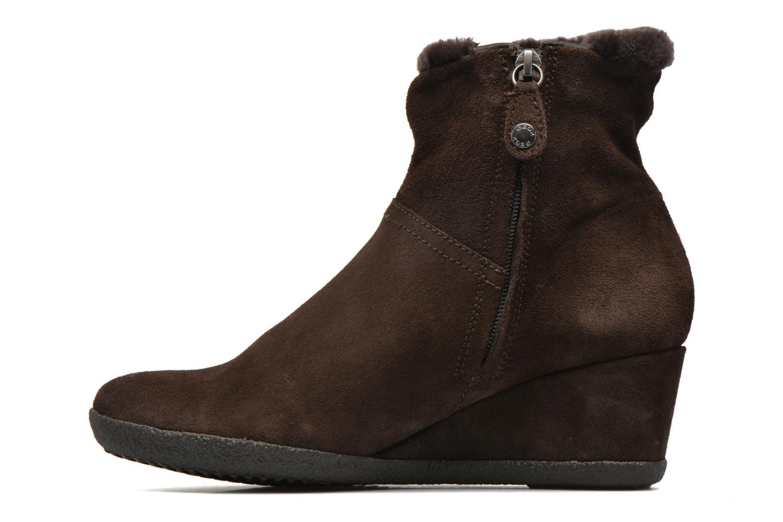 Bottines et boots Geox D AMELIA ST D D6479D Marron vue face