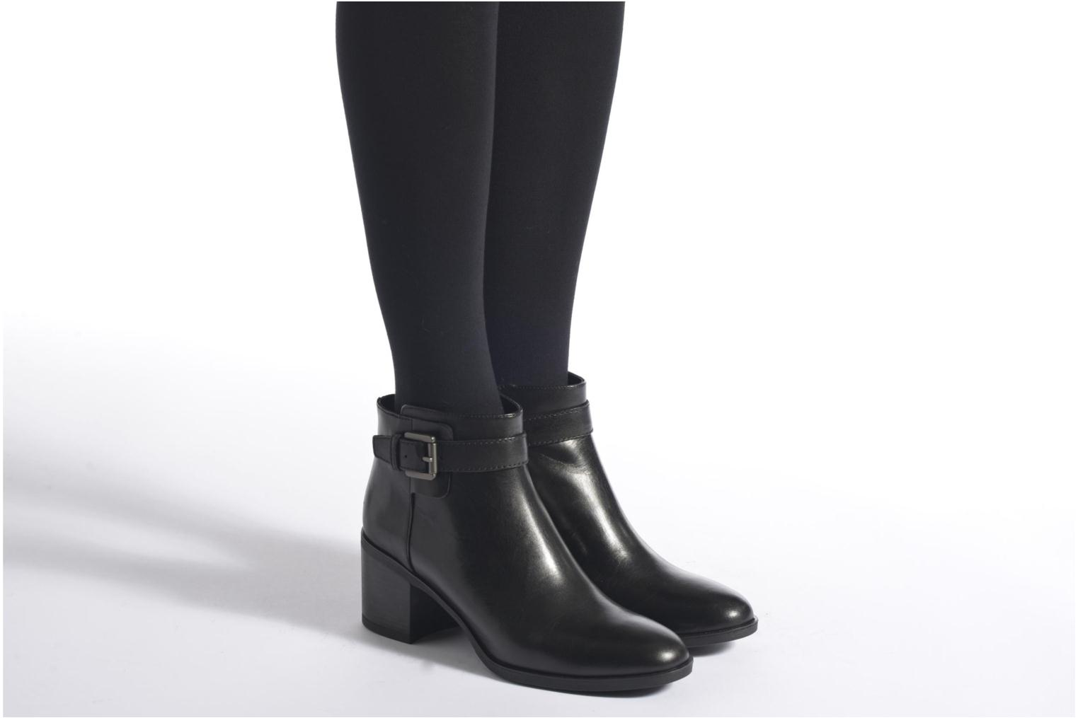 Ankle boots Geox D GLYNNA B D643CB Brown view from underneath / model view
