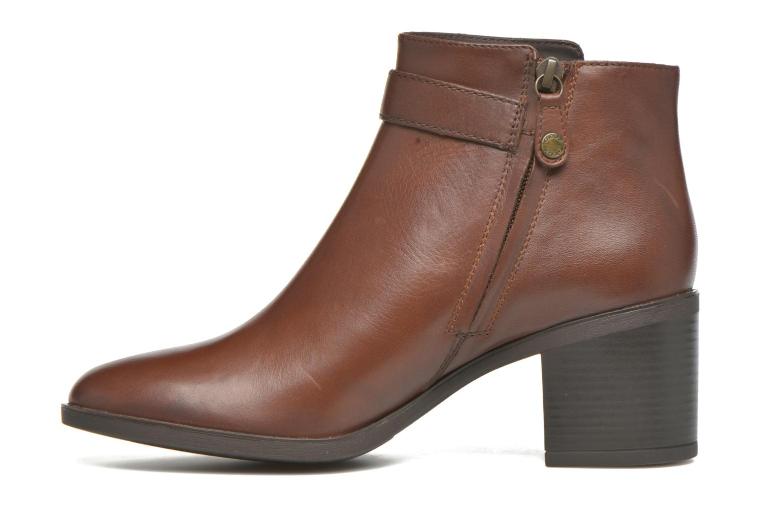 Ankle boots Geox D GLYNNA B D643CB Brown front view