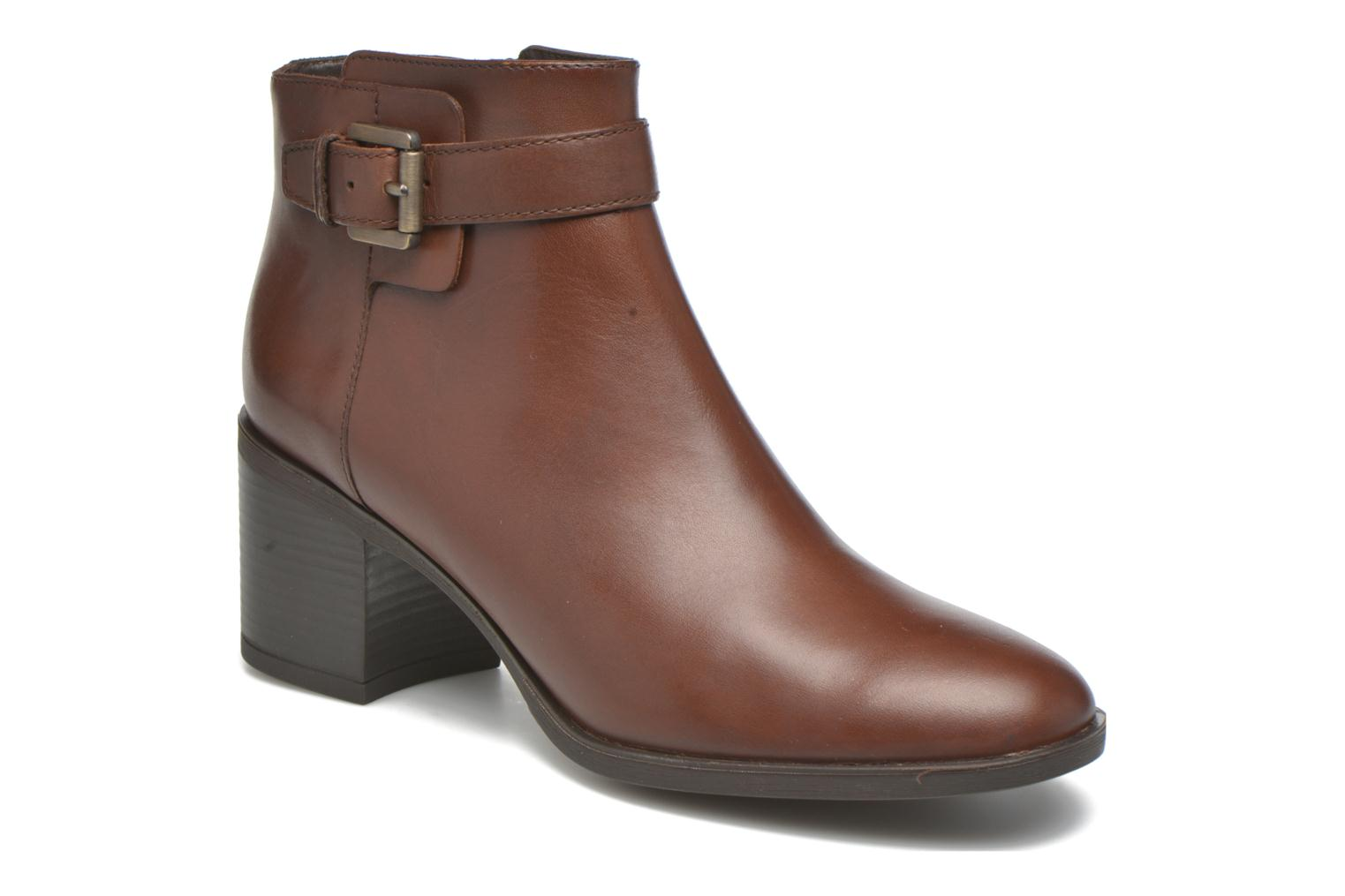 Ankle boots Geox D GLYNNA B D643CB Brown detailed view/ Pair view