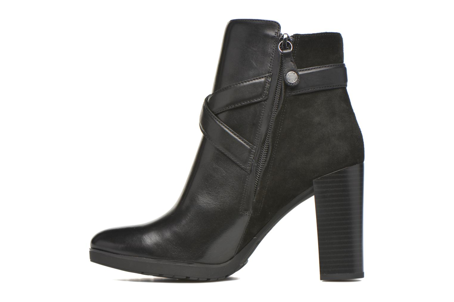 Ankle boots Geox D RAPHAL A D643AA Black front view