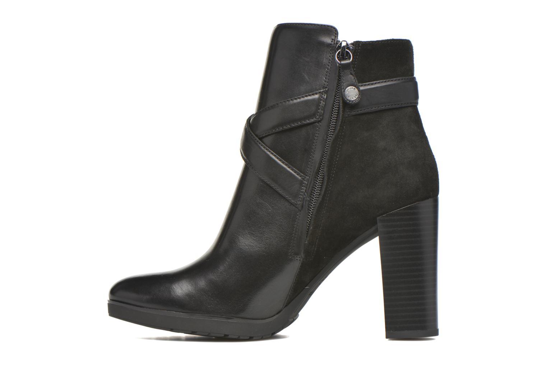 Bottines et boots Geox D RAPHAL A D643AA Noir vue face
