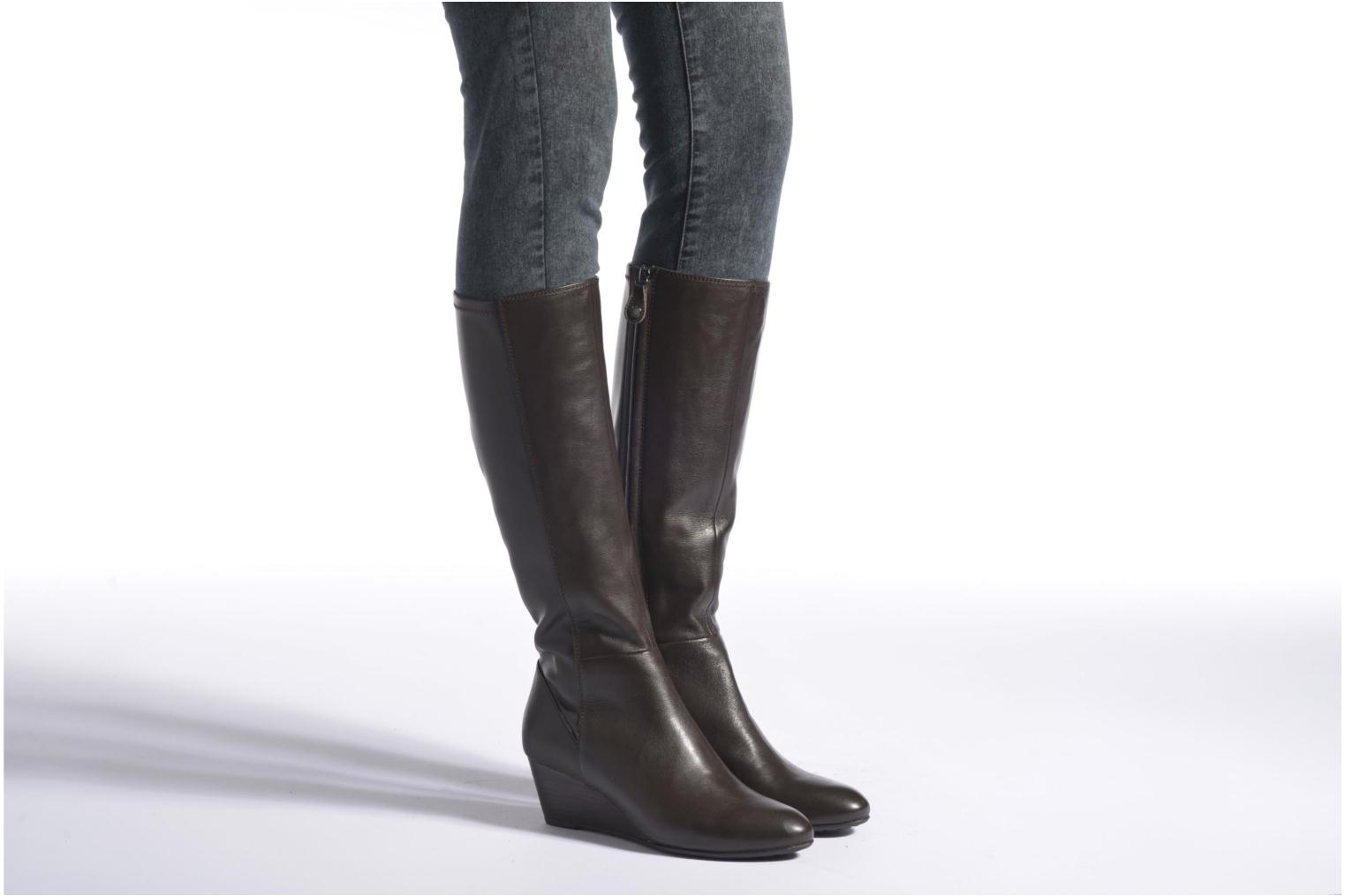 Boots & wellies Geox D VENERE B D64P8B Black view from underneath / model view