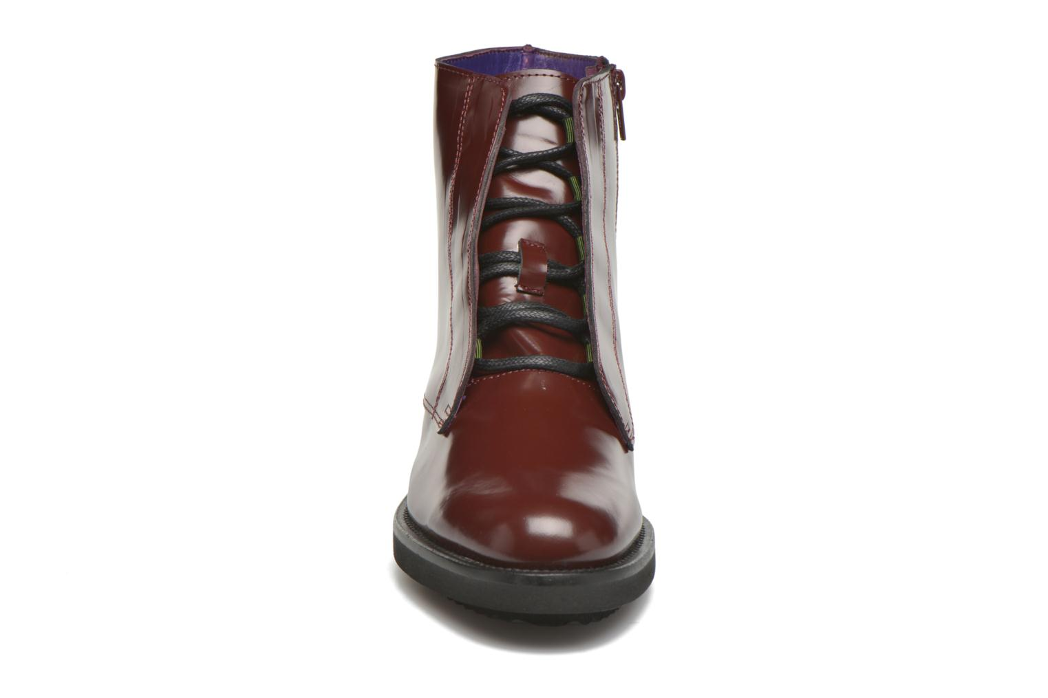 Ankle boots Anaki Jo Burgundy model view