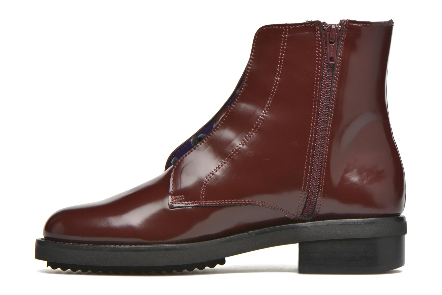 Ankle boots Anaki Jo Burgundy front view