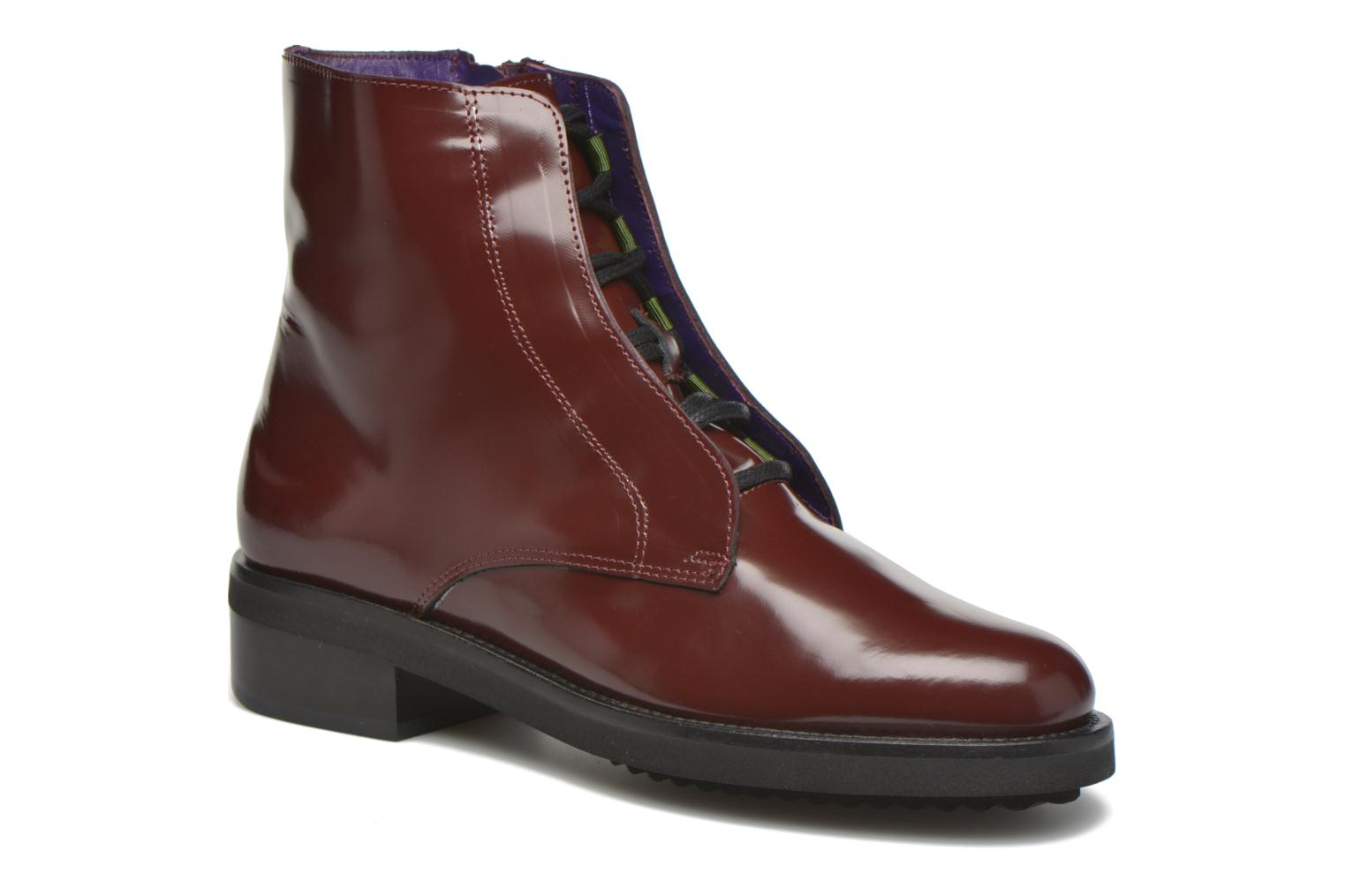 Ankle boots Anaki Jo Burgundy detailed view/ Pair view