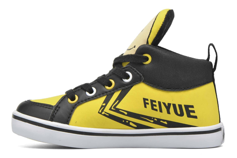 Sneaker Feiyue Delta Mid Peanuts gelb ansicht von vorne