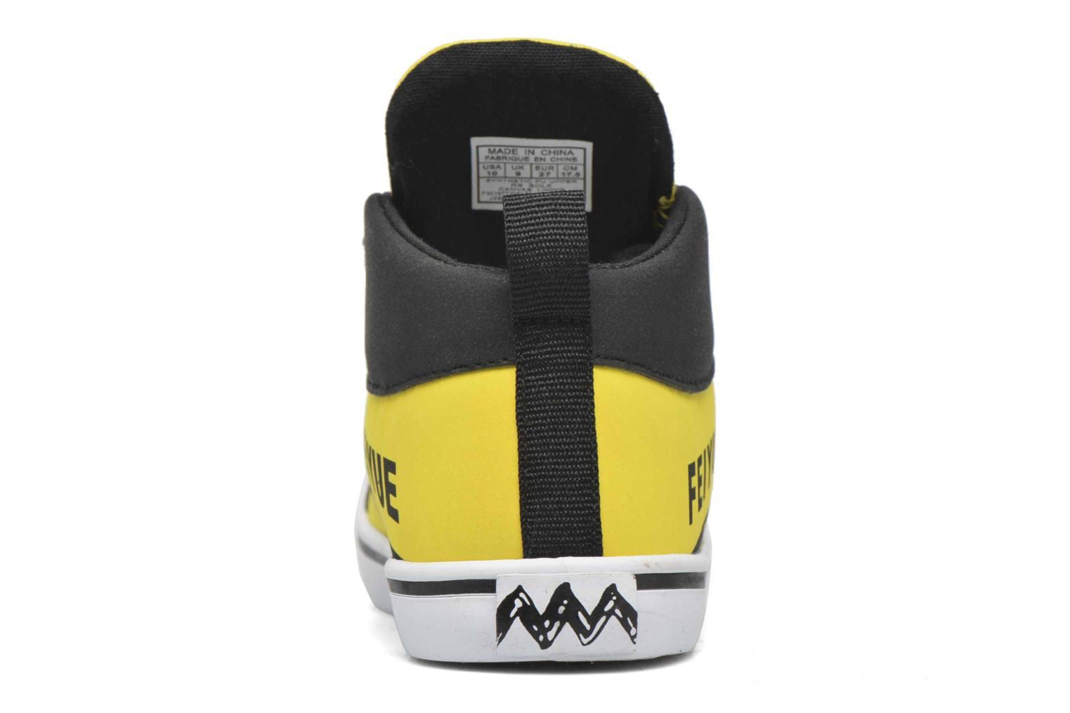 Trainers Feiyue Delta Mid Peanuts Yellow view from the right