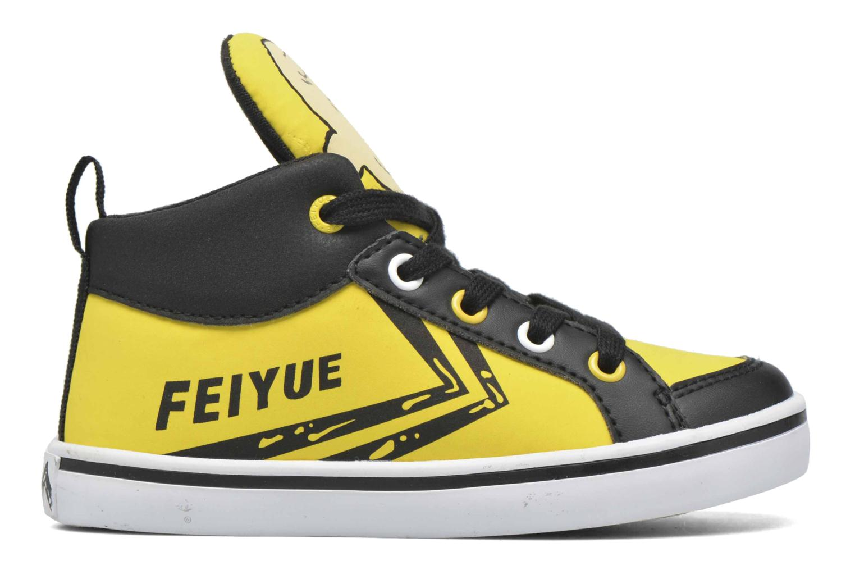 Sneaker Feiyue Delta Mid Peanuts gelb ansicht von hinten