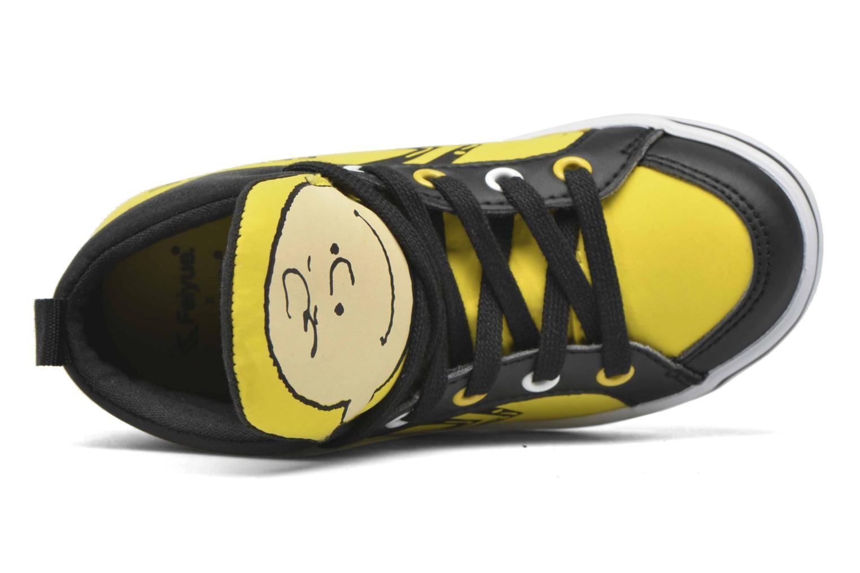 Sneaker Feiyue Delta Mid Peanuts gelb ansicht von links