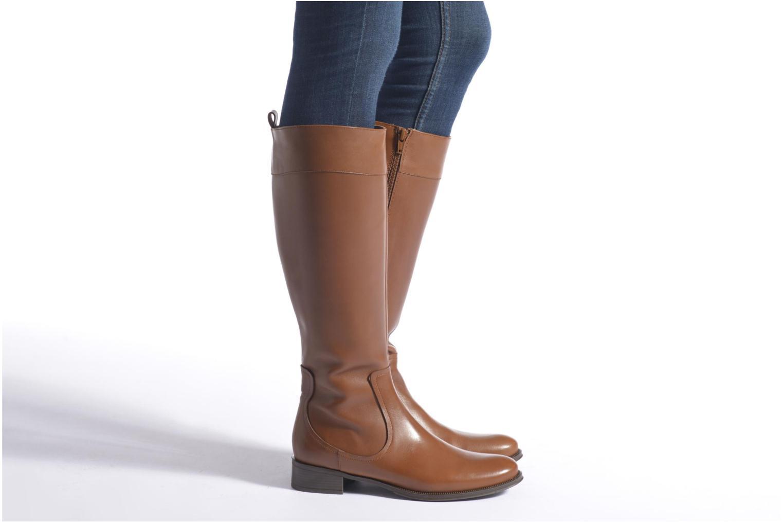 Stiefel Made by SARENZA Boots Camp #15 braun ansicht von unten / tasche getragen