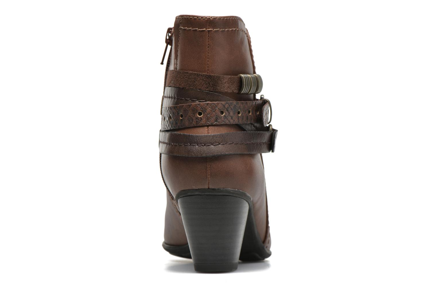 Ankle boots Jana shoes Cypres Brown view from the right