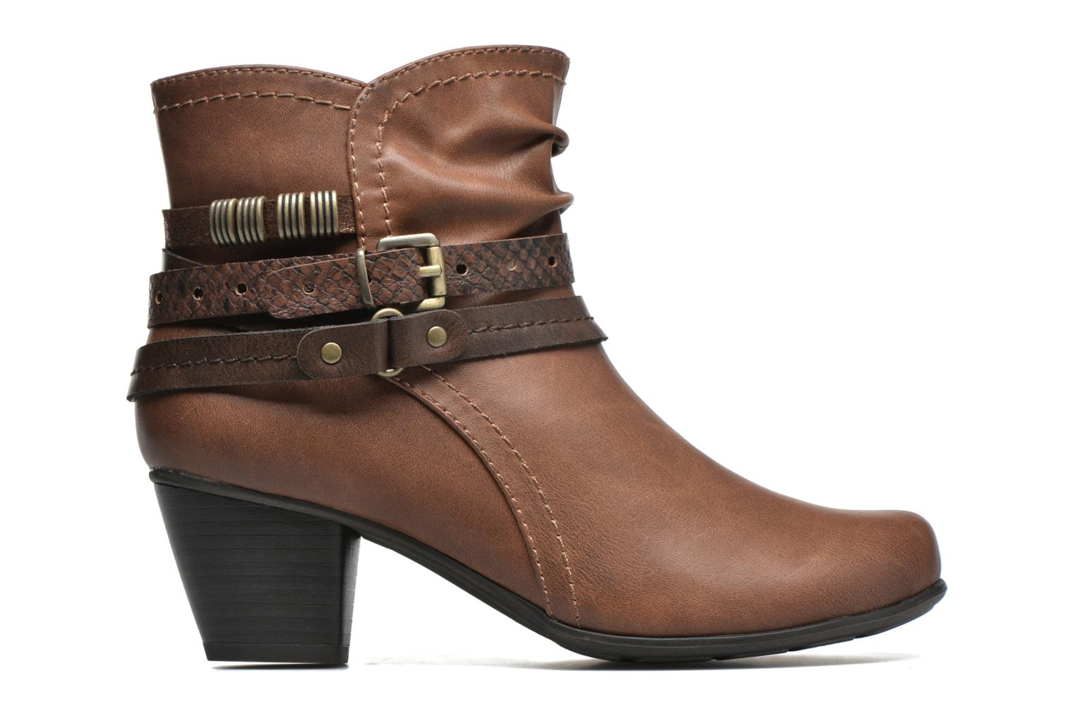 Ankle boots Jana shoes Cypres Brown back view