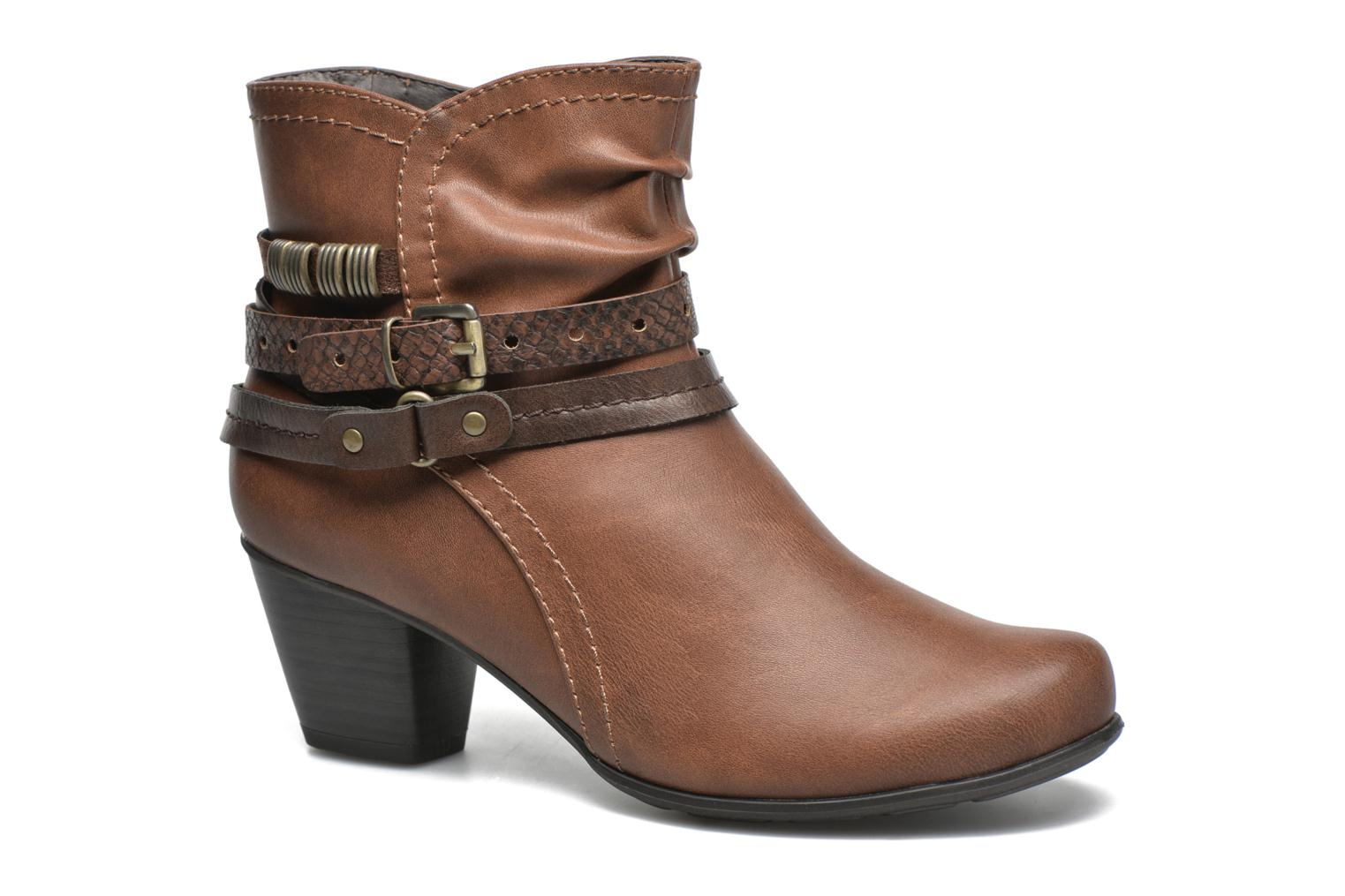 Ankle boots Jana shoes Cypres Brown detailed view/ Pair view