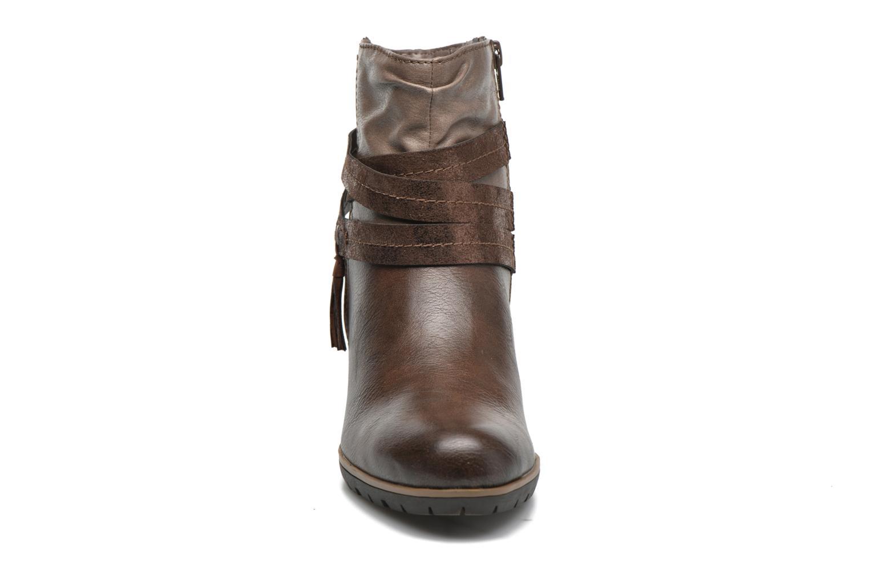 Bottines et boots Jana shoes Silene Marron vue portées chaussures