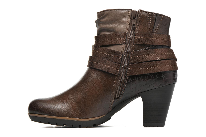 Botines  Jana shoes Silene Marrón vista de frente
