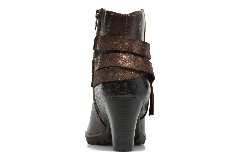 Botines  Jana shoes Silene Marrón vista lateral derecha