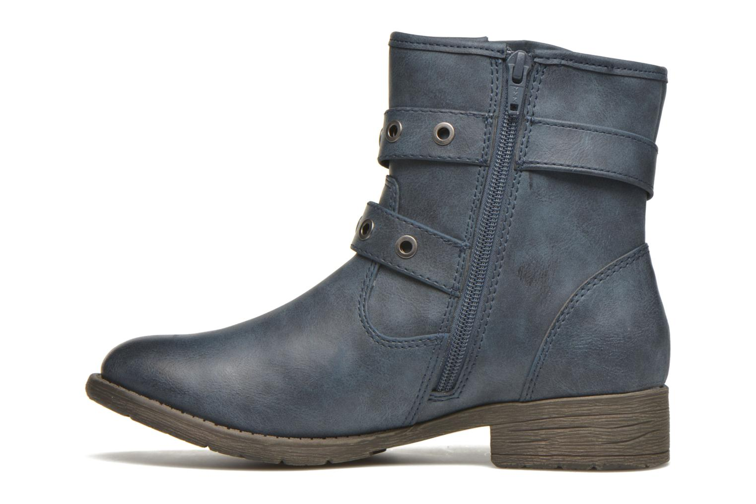 Ankle boots Jana shoes Monarde Blue front view