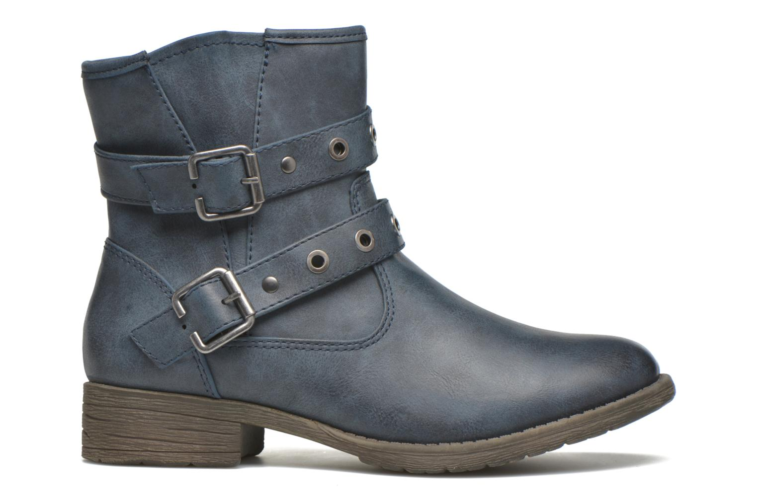 Ankle boots Jana shoes Monarde Blue back view