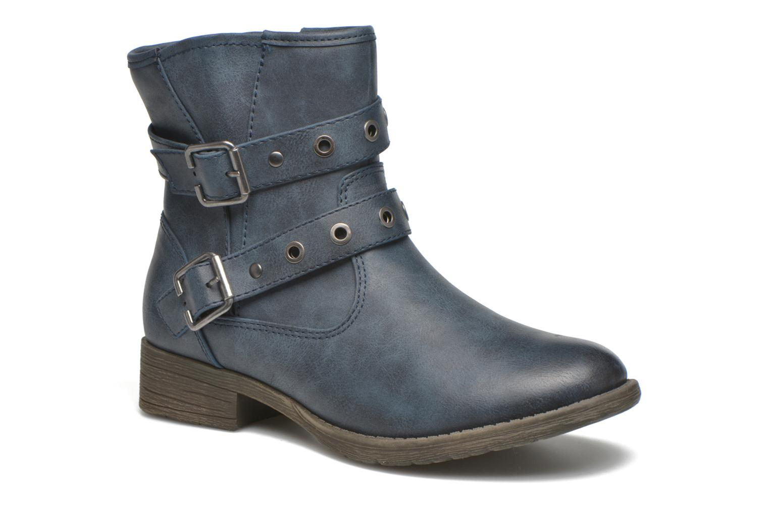 Ankle boots Jana shoes Monarde Blue detailed view/ Pair view