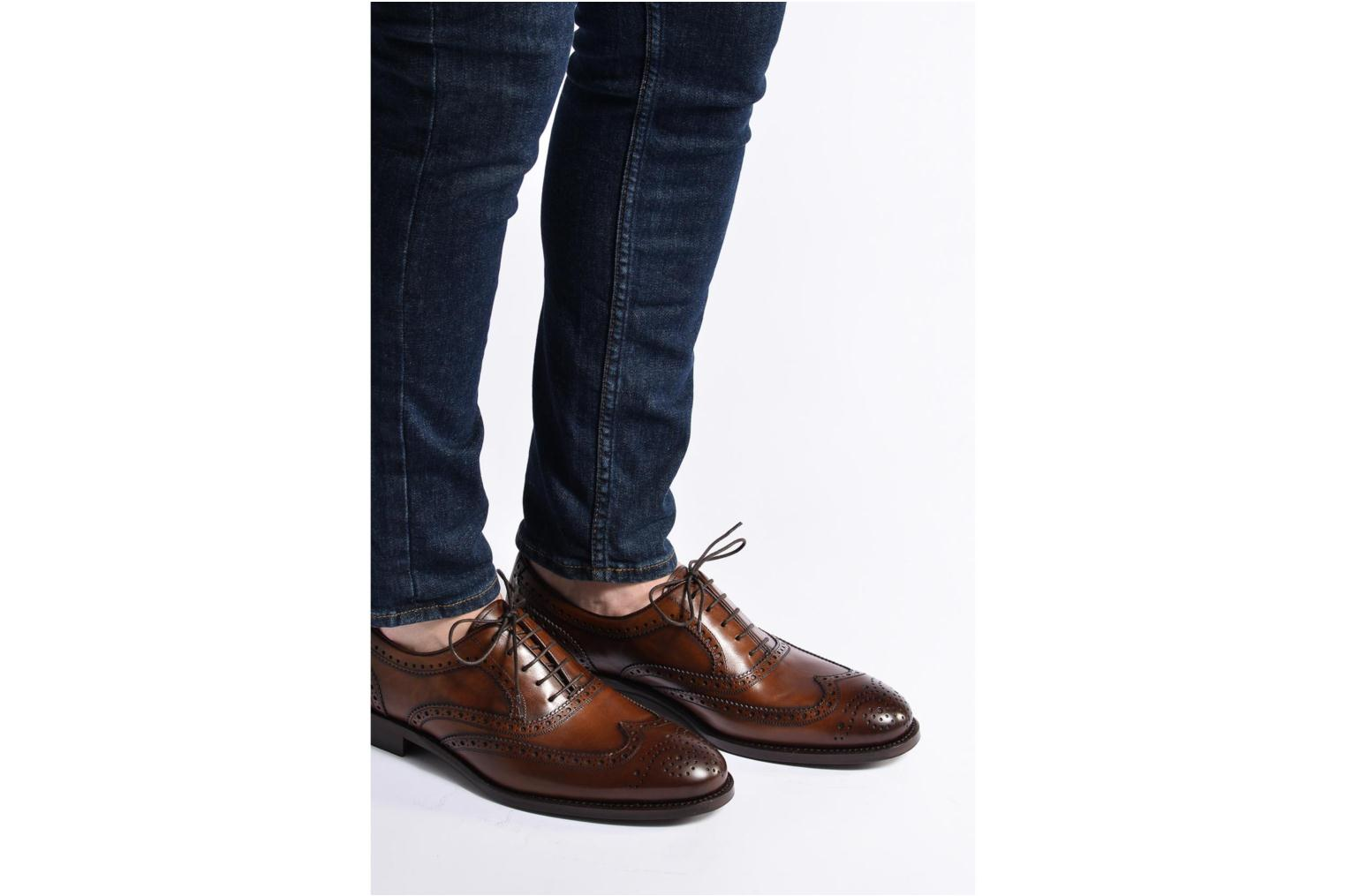 Chaussures à lacets Marvin&Co Luxe Waster - Cousu Goodyear Marron vue bas / vue portée sac